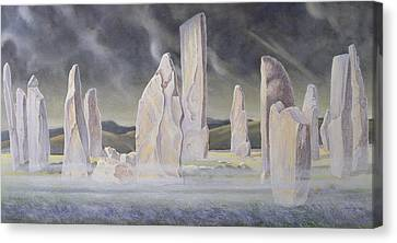 The Callanish Legend Isle Of Lewis Canvas Print by Evangeline Dickson