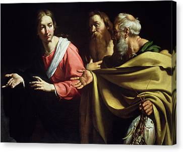 The Calling Of St. Peter And St. Andrew Canvas Print by Bernardo Strozzi
