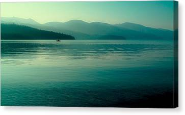 The Calmness Of Priest Lake Canvas Print by David Patterson