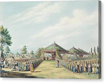 The Camp At Daud-pascia, Pub Canvas Print