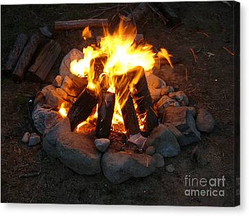 The Campfire Canvas Print