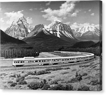 the Canadian Train Canvas Print