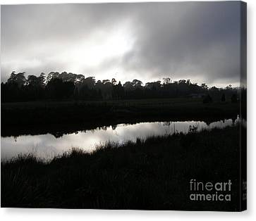 The Canal Canvas Print by Bev Conover