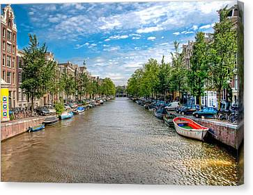Canvas Print featuring the photograph The Canal by Brent Durken