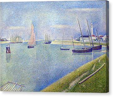 The Canal Of Gravelines Canvas Print by Georges Seurat