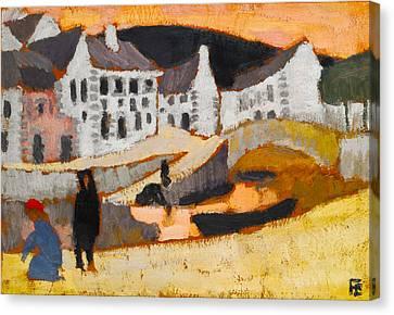 Briton Canvas Print - The Canal by Roger de La Fresnaye