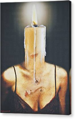 The Candle Flame Canvas Print by Larry Butterworth