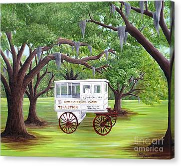 The Candy Cart Canvas Print