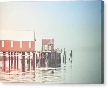 The Cannery In Fog Canvas Print