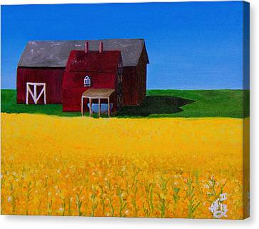 The Canola Farm Canvas Print