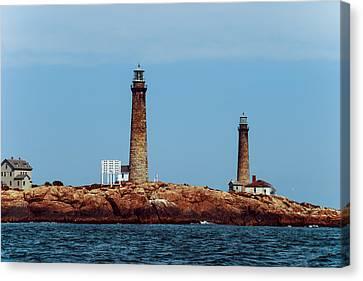 The Cape Ann Lighthouse On Thacher Island Canvas Print