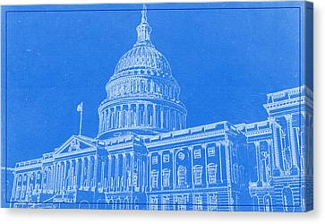 Lincoln Park Lagoon Canvas Print - The Capitol Blueprint by Celestial Images