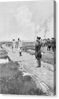 The Capitulation Of Louisbourg, Illustration From Colonies And Nation By Woodrow Wilson, Pub Canvas Print by Howard Pyle