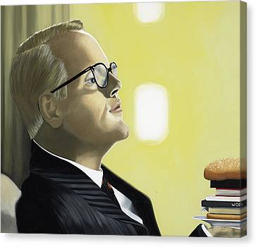 Hamburger Canvas Print - The Capote Burger by Marcella Lassen