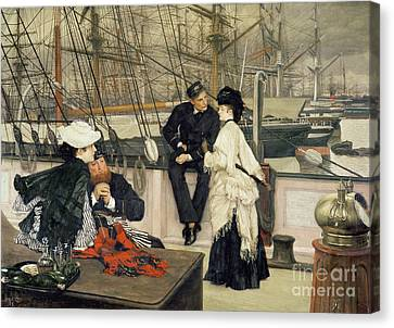 The Captain And The Mate Canvas Print by Celestial Images