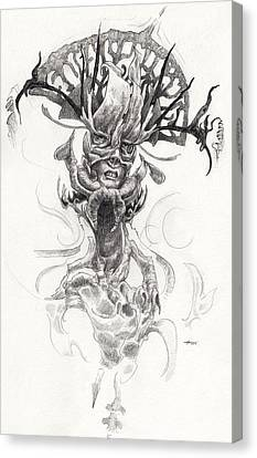 Tentacles Canvas Print - The Captain by Ethan Harris