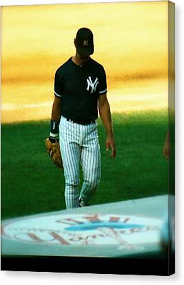 The Captains Farewell  Don Mattingly Canvas Print by Iconic Images Art Gallery David Pucciarelli