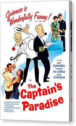 The Captains Paradise, Us Poster Canvas Print by Everett