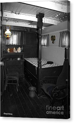 The Captains Quarters Canvas Print by Cheryl Young