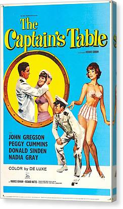 The Captains Table, Us Poster Canvas Print by Everett