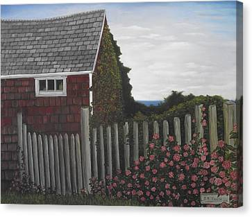 The Captain's Widow's House Canvas Print
