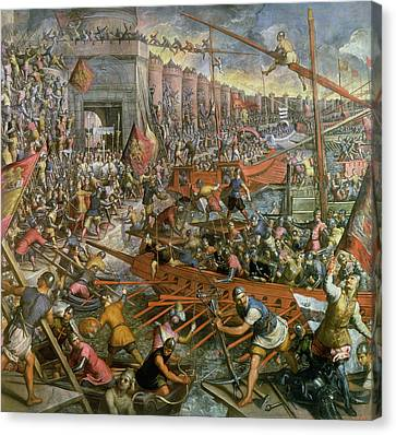The Capture Of Constantinople In 1204 Canvas Print