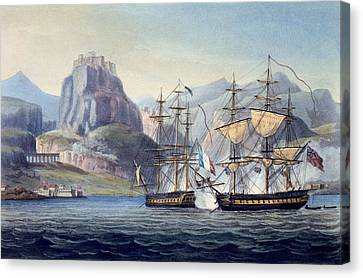 Corfu Canvas Print - The Capture Of The Var By Hms Belle by English School
