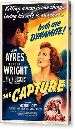 The Capture, Us Poster, From Left Lew Canvas Print by Everett