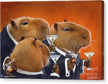 The Capybara Club... Canvas Print by Will Bullas