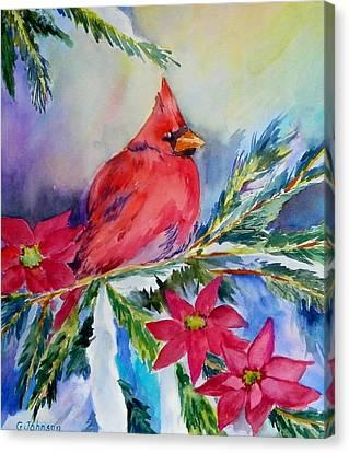 The Cardinal Canvas Print by Gloria Johnson