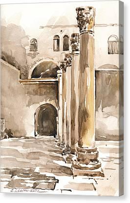 The Cardo In Jerusalem Canvas Print