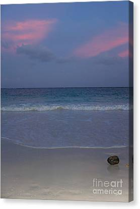 The Caribbean Sunset Canvas Print by Ze  Di