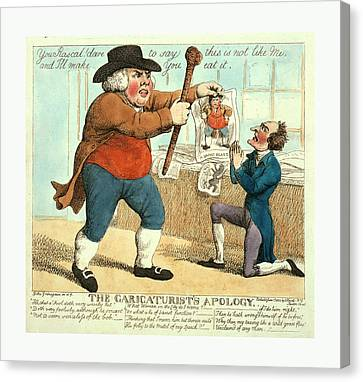 The Caricaturists Apology, Grinagain, Giles Canvas Print
