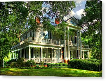 The Carlton Home A True Southern Antebellum Type Home Canvas Print by Reid Callaway