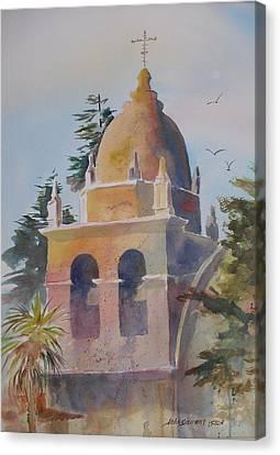 The Carmel Mission Canvas Print by John  Svenson