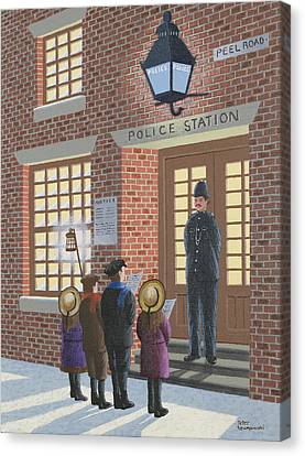 The Carolers Canvas Print by Peter Szumowski