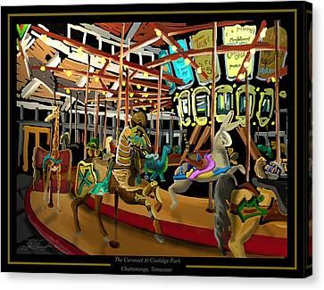 The Carousel At Coolidge Park - Chattanooga Landmark Series - #6 Canvas Print by Steven Lebron Langston