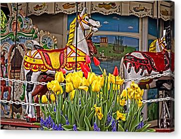 The Carousel Canvas Print by Cheryl Cencich