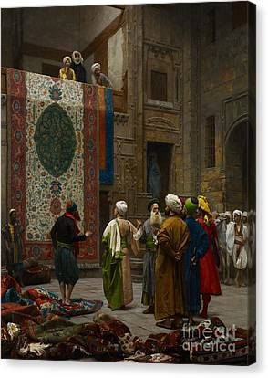 Display Canvas Print - The Carpet Merchant by Jean Leon Gerome