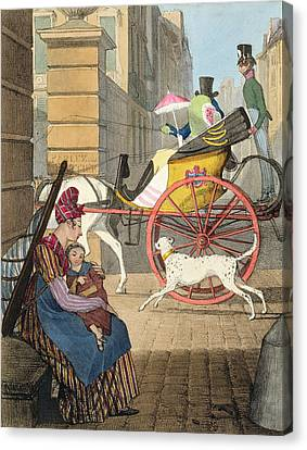 The Carriage Entrance, From Twenty-four Canvas Print by John James Chalon