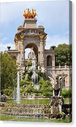 The Cascada In Parc De La Ciutadella In Barcelona Canvas Print
