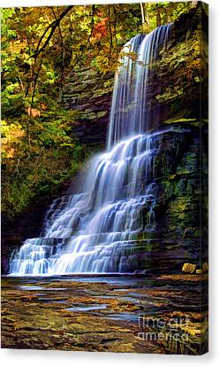 The Cascades Canvas Print by Darren Fisher