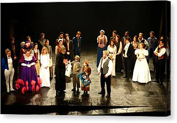 The Cast Of Les Miserables Canvas Print by Diane Lent
