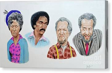 The Cast Of Sanford And Son  Canvas Print by Jim Fitzpatrick