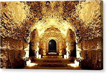 The Castle At Night Canvas Print by Marwan Khoury