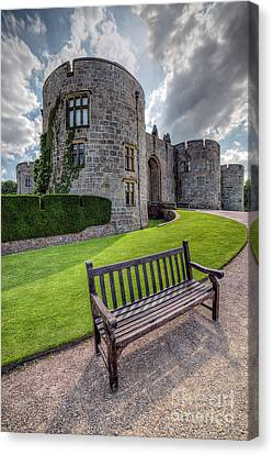 The Castle Bench Canvas Print by Adrian Evans