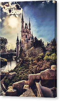 Canvas Print featuring the photograph The Castle by Joshua Minso