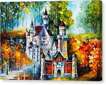 The Castle Of 4 Seasons Canvas Print by Leonid Afremov