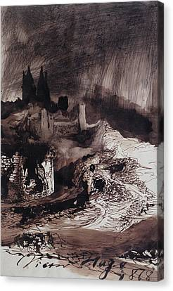The Castle Canvas Print by Victor Hugo