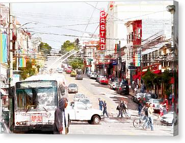 The Castro District In San Francisco 7d7573wcstyle Canvas Print